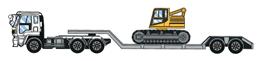 重量物運搬用セミトレーラ